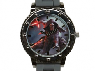 Star Wars Episode VII - The Force Awakens Kylo Ren Grey Silicone Strap Watch