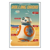 Star Wars Episode VII - The Force Awakens Rolling Droid BB-8 Advertisement Poster Paper Giclee Print