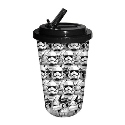 Star Wars Episode VII - The Force Awakens Stormtrooper All Over 16 oz. Flip Straw Travel Cup