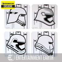 Star Wars Episode VII - The Force Awakens Stormtrooper Coaster 4-Pack