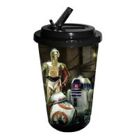 Star Wars Episode VII - The Force Awakens The Droids 16 oz. Flip Straw Travel Cup