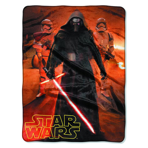 Star Wars Episode VII - The Force Awakens Trio Silk Touch Throw Blanket