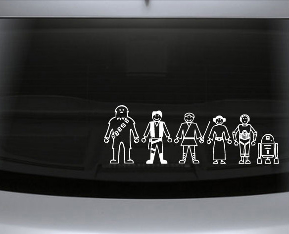Star Wars Family Auto Decals