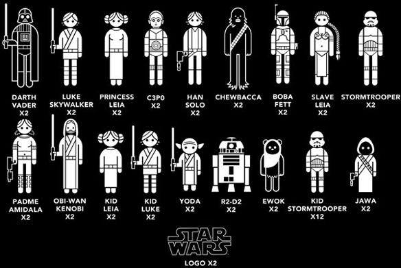 Star Wars Family Car Decals