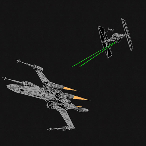 Star Wars Fighter Scene Shirt