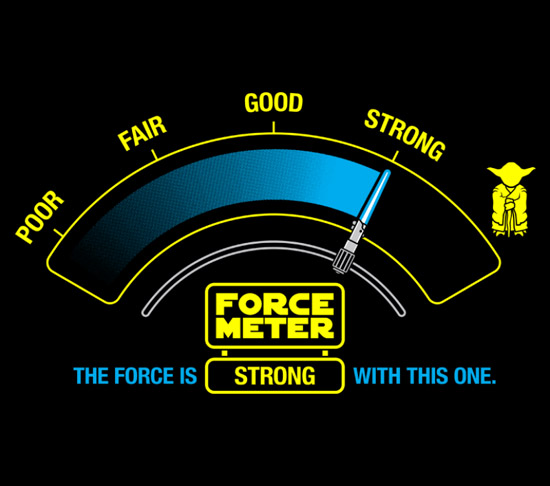 Star Wars Force O Meter T Shirt