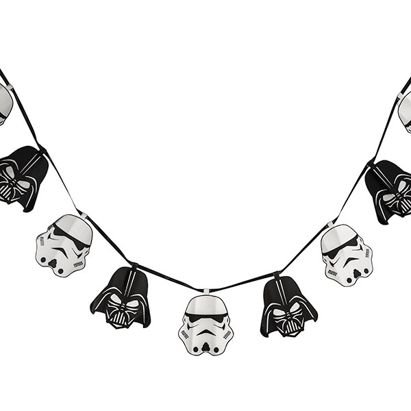 Star Wars Darth Vader and Stormtrooper Helmet Garland