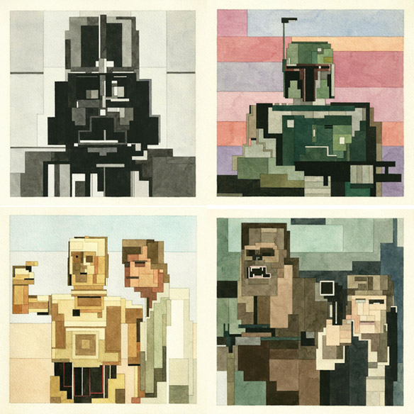 Star Wars Geometric Art Prints