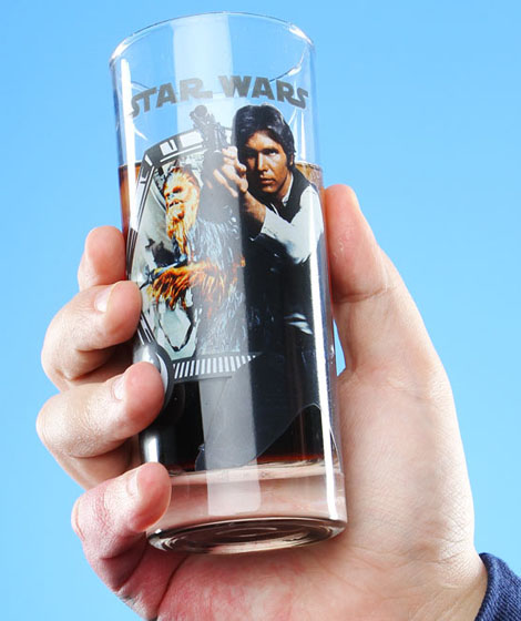 Star Wars Han, Luke, Leia, Darth Vader Glass Set