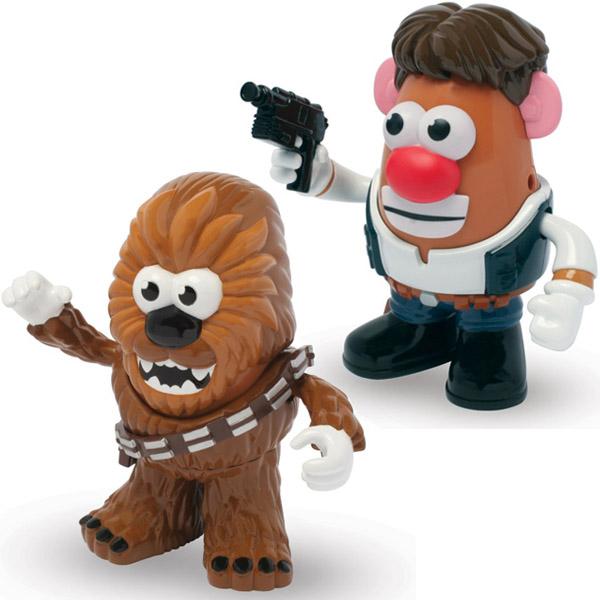 Star Wars Han Solo and Chewbacca Poptaters Mr Potato Head Figures