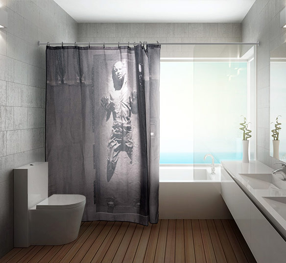 Star Wars Han Solo in Carbonite Shower Curtain