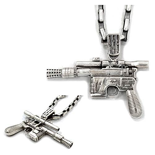 Star Wars Han Solos Blaster Stainless Steel Pendant Necklace