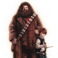 Star Wars Harry Potter Scruffy-Looking Troll Herders Art Print