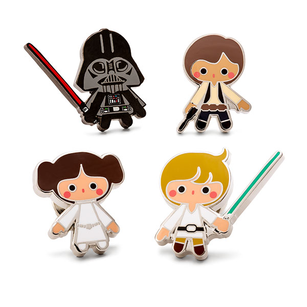 Star Wars Heroes and Villains Lapel Pin Set, Set of 4