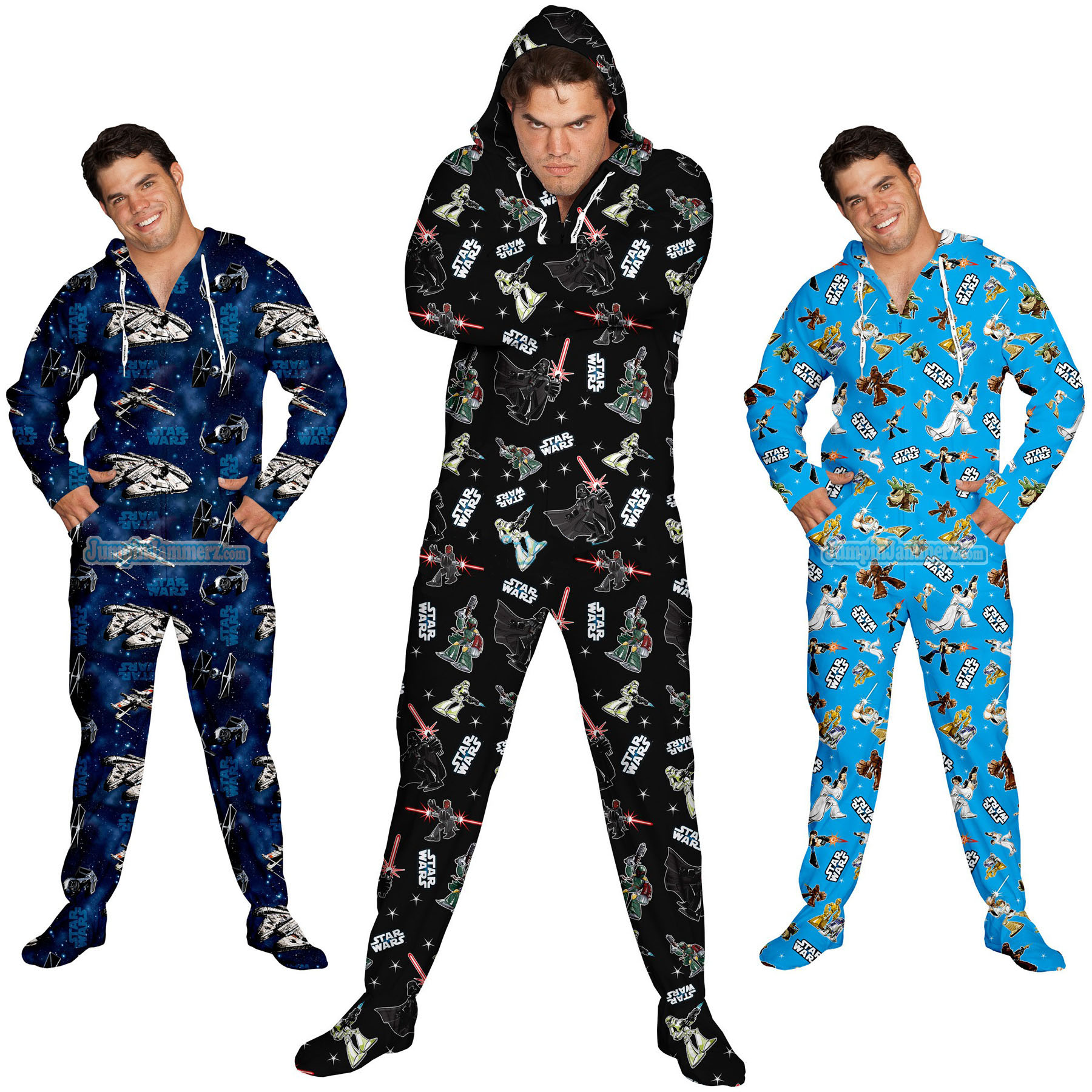 star wars footed pajamas - Star Wars Christmas Pajamas
