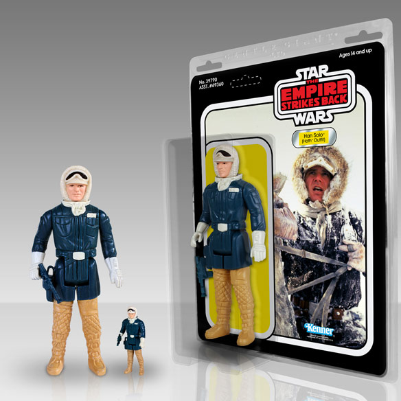 Star Wars Hoth Han Solo Kenner Jumbo Figure