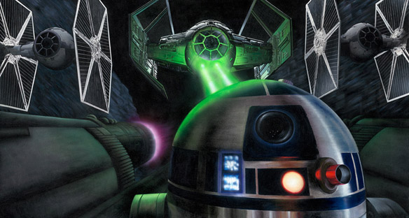 Star Wars I Have You Now Canvas Giclee Print