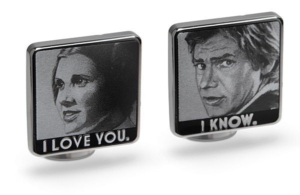 Star Wars I Love You  I Know Cufflinks