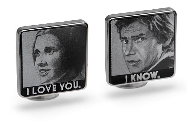 Star Wars I Love You  I Know Cufflinks