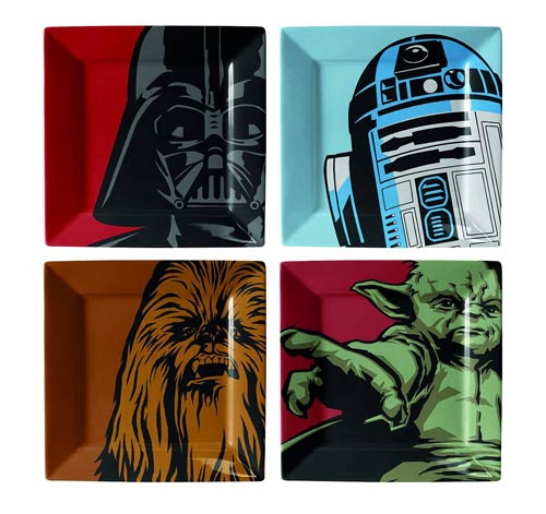 Star Wars Iconic Character Plate Set 4-Pack