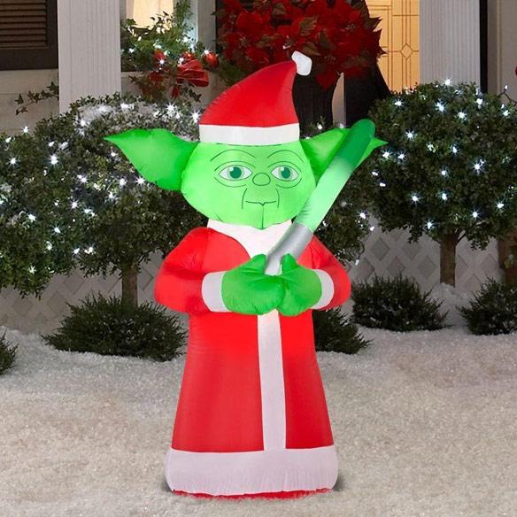 Star Wars Inflatable Christmas Santa Yoda