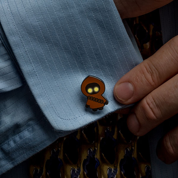 Star Wars Jawa Glow-In-The-Dark Cufflinks