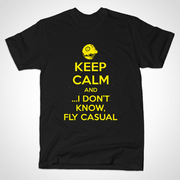 Star Wars Keep Calm and Fly Casual TShirt