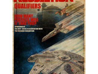 Star Wars Kessel Run Qualifiers Fine Art Lithograph