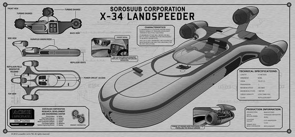 Star Wars Landspeeder TechPlate