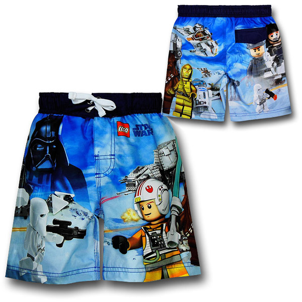 Star Wars Lego Hoth Scene Kids Board Shorts