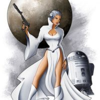 Star Wars Leia by Mike Kungl Art Print
