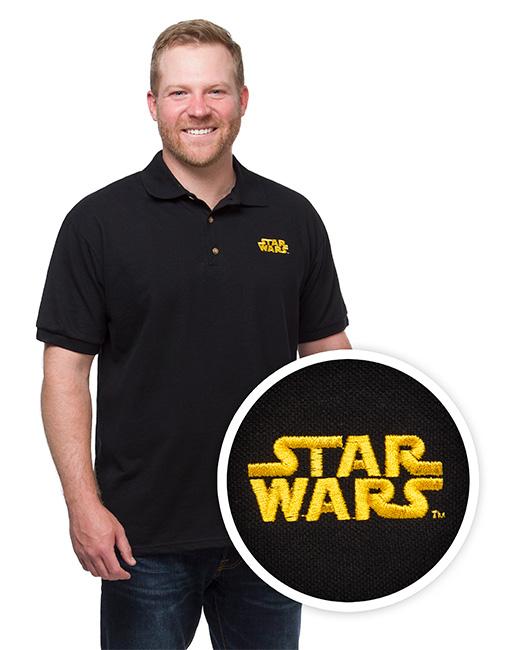 star wars logo polo