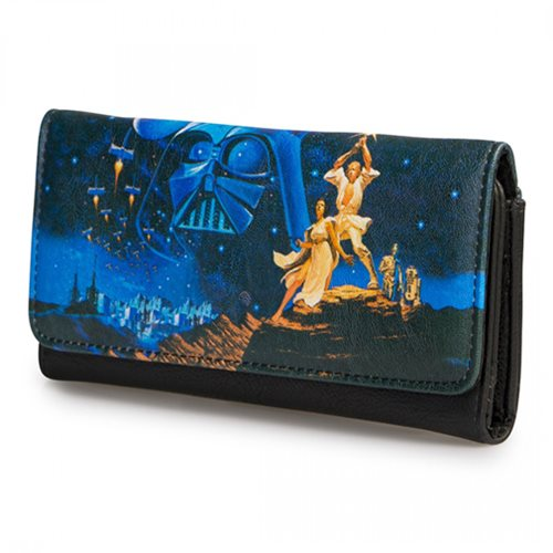 Star Wars Luke and Leia Photo Real Wallet
