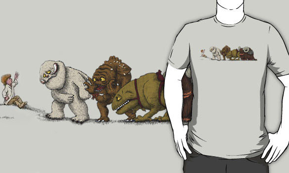 Star Wars Luke and the Beasts T-Shirt