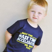 Star Wars May The Mass x Acceleration Childrens T-Shirt