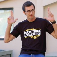 Star Wars May The Mass x Acceleration Mens T-Shirt
