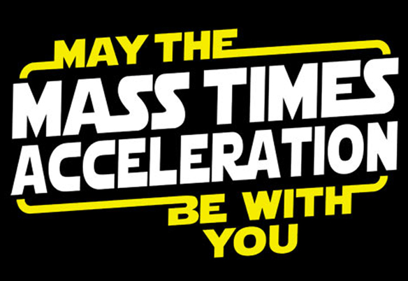 Star Wars May The Mass x Acceleration TShirt