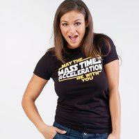 Star Wars May The Mass x Acceleration Womens TShirt