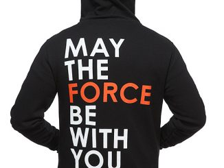 Star Wars May the Force Be With You Zip-Up Hoodie