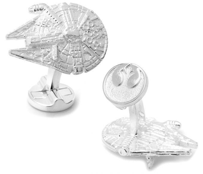 Star Wars Millennium Falcon 3D Sterling Silver Cufflinks