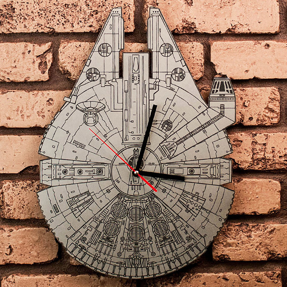 Star Wars Millennium Falcon Artisan Laser-Engraved Clock
