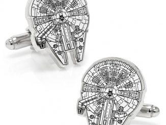 Star Wars Millennium Falcon Blue Print Cufflinks