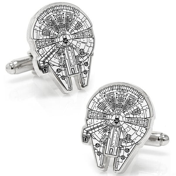 Star Wars Millennium Falcon Blue Print Cufflinks