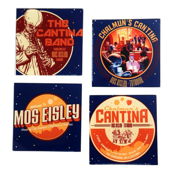 Star Wars Mos Eisley Cantina Glass Coaster Set
