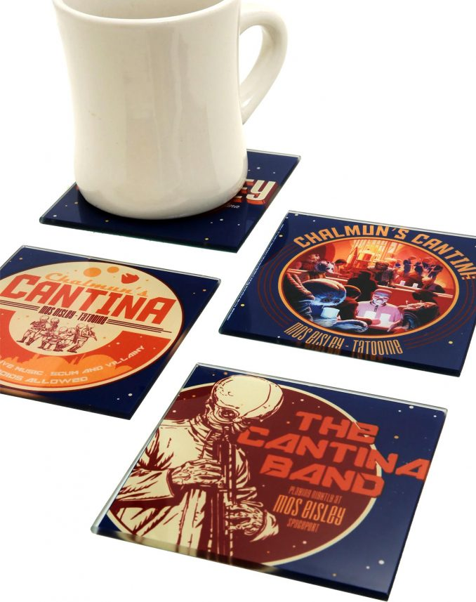 Star Wars Mos Eisley Cantina Glass Coasters