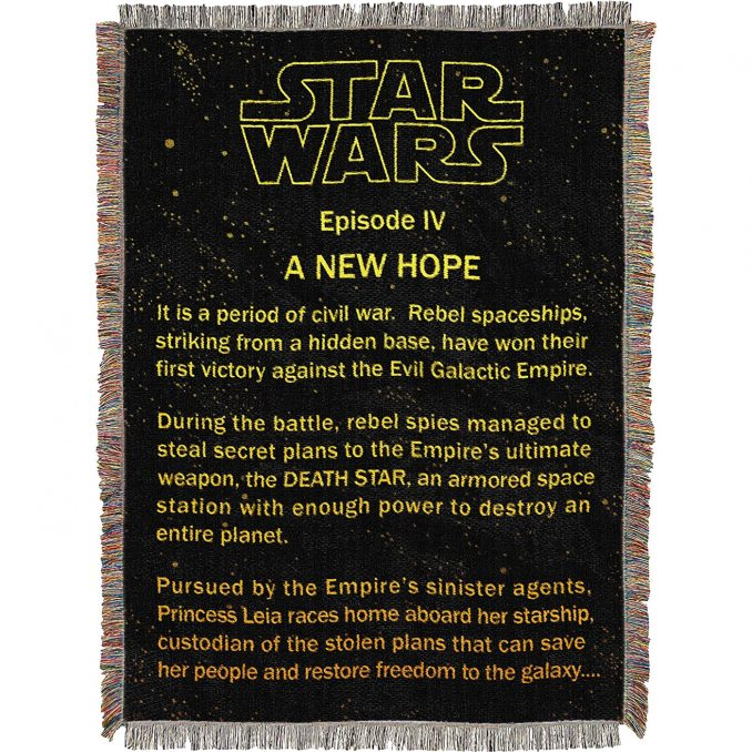 Star Wars Opening Crawl Tapestry Throw Blanket