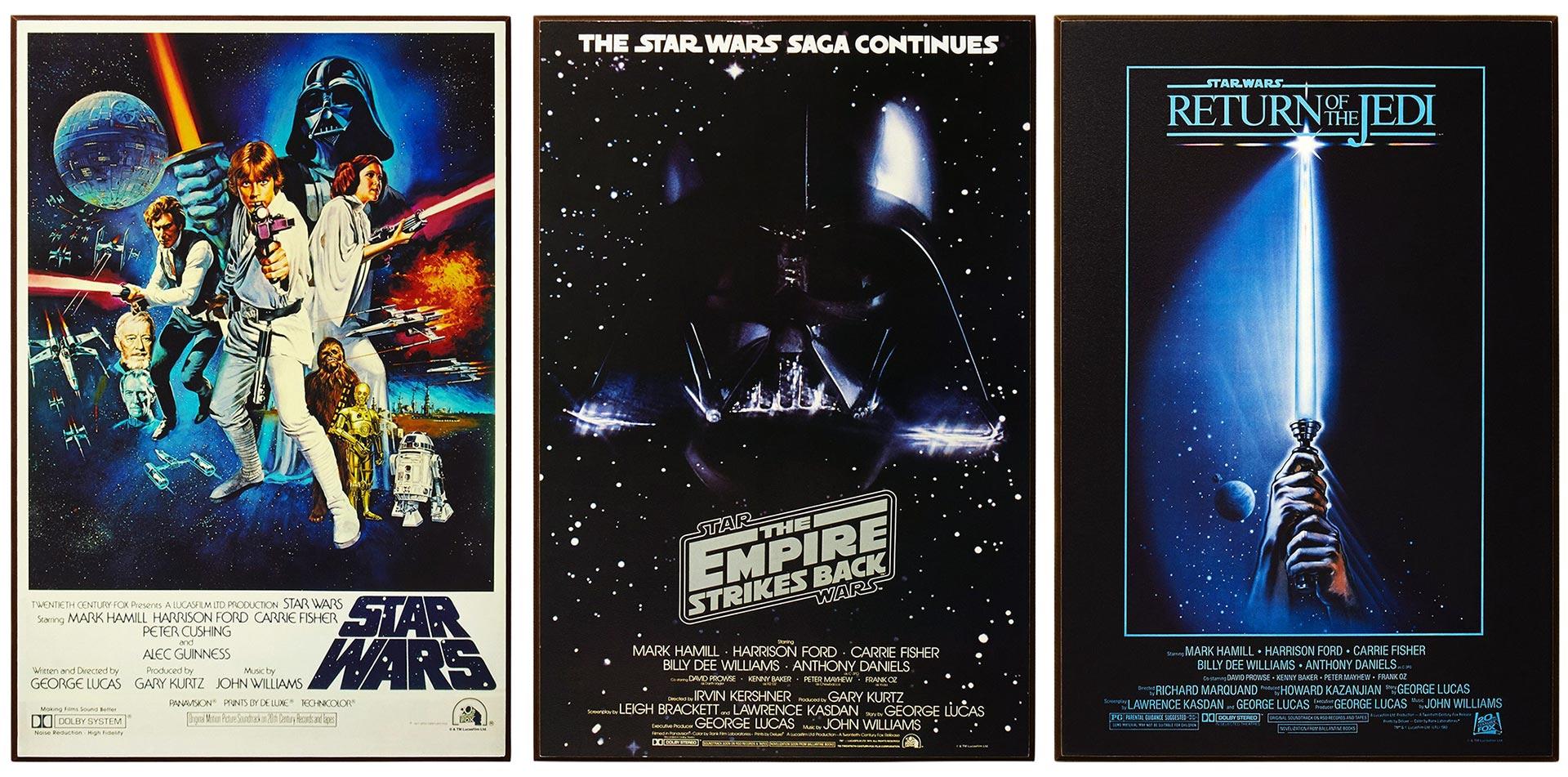 Star Wars Original Trilogy Posters Wood Wall Art