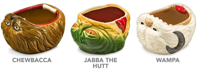 Star Wars Party Bowls Chewbacca, Jabba the Hutt, and Wampa