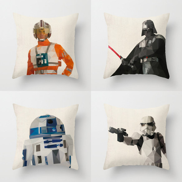 Star Wars Polygon Art Pillow Cases