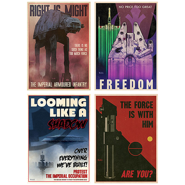 Star Wars Propaganda 8x10 Post Card Set